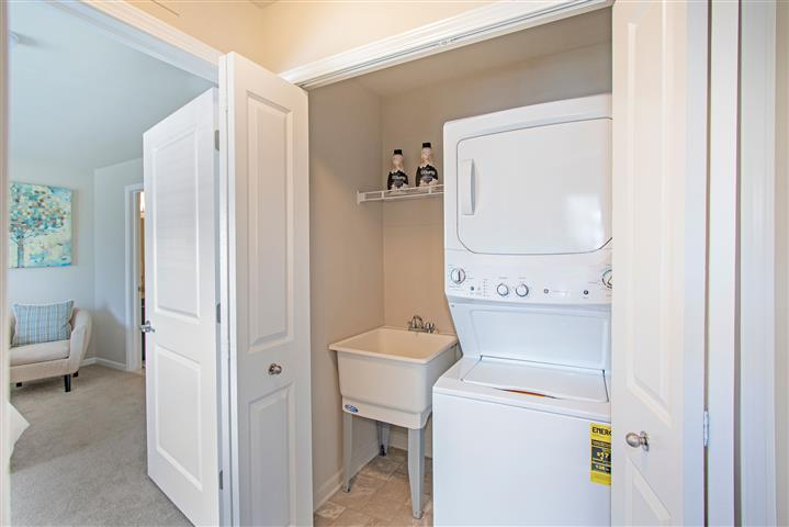 Stackable Washer/Dryer in Closet