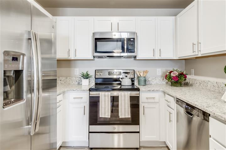 Tribute Creek Kitchen with Stainless Appliances